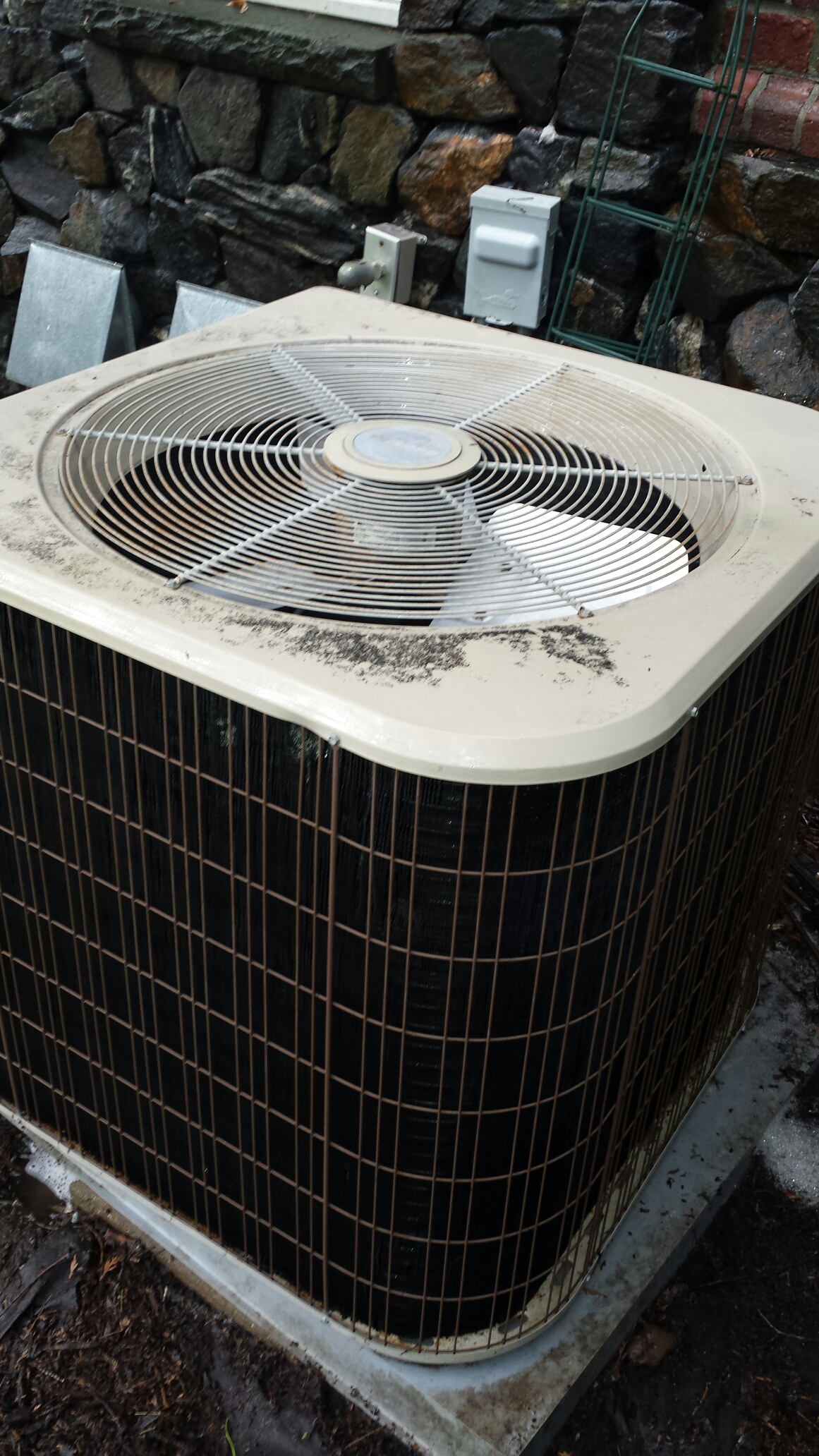 Edina, MN - Ac service. Performed three cleaning and tune ups on Amana air conditioners.
