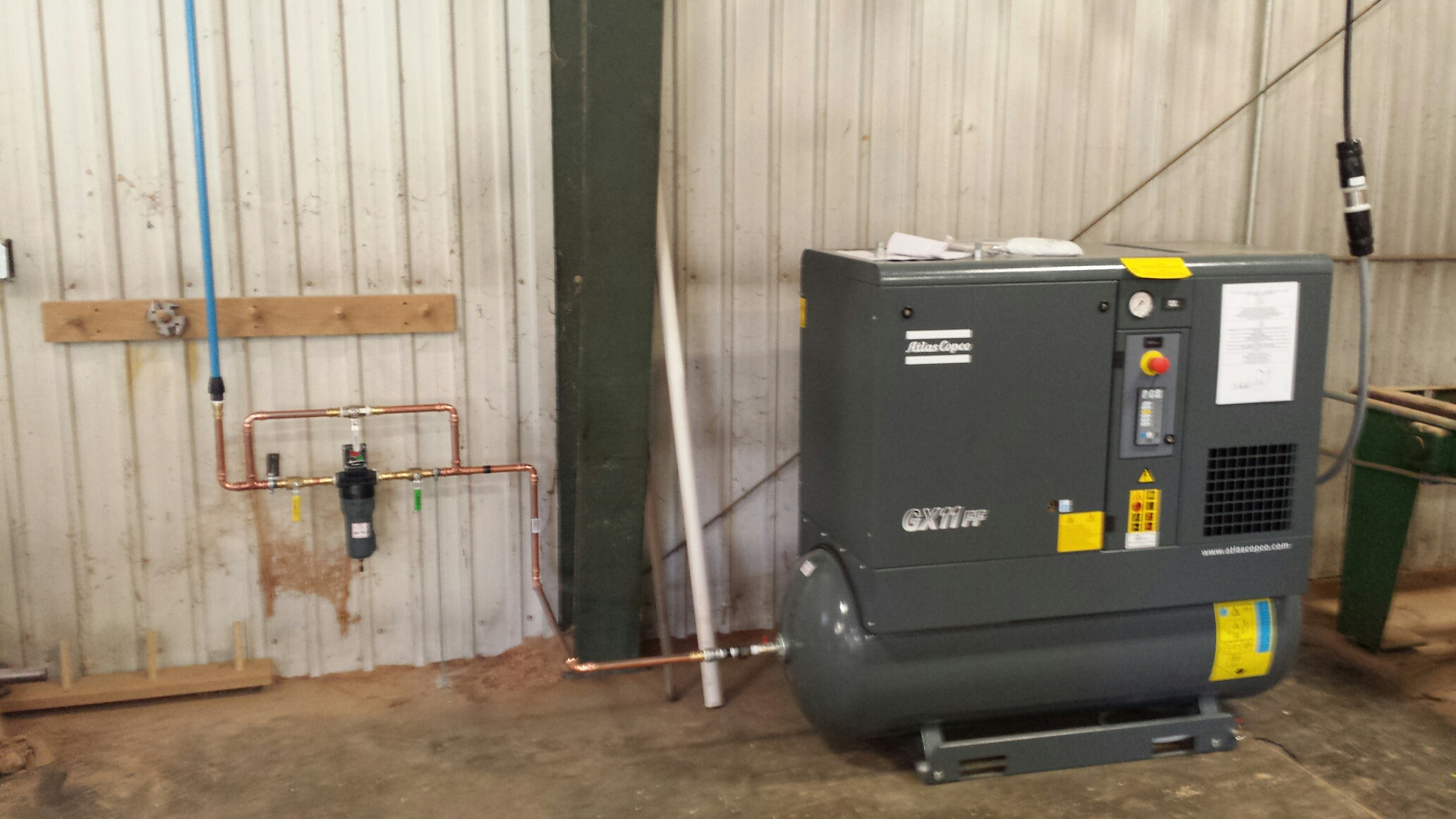 Anoka, MN - Installed  compressed air lines