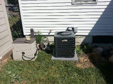 Fridley, MN - installed a new comfort matters a/c and furnace
