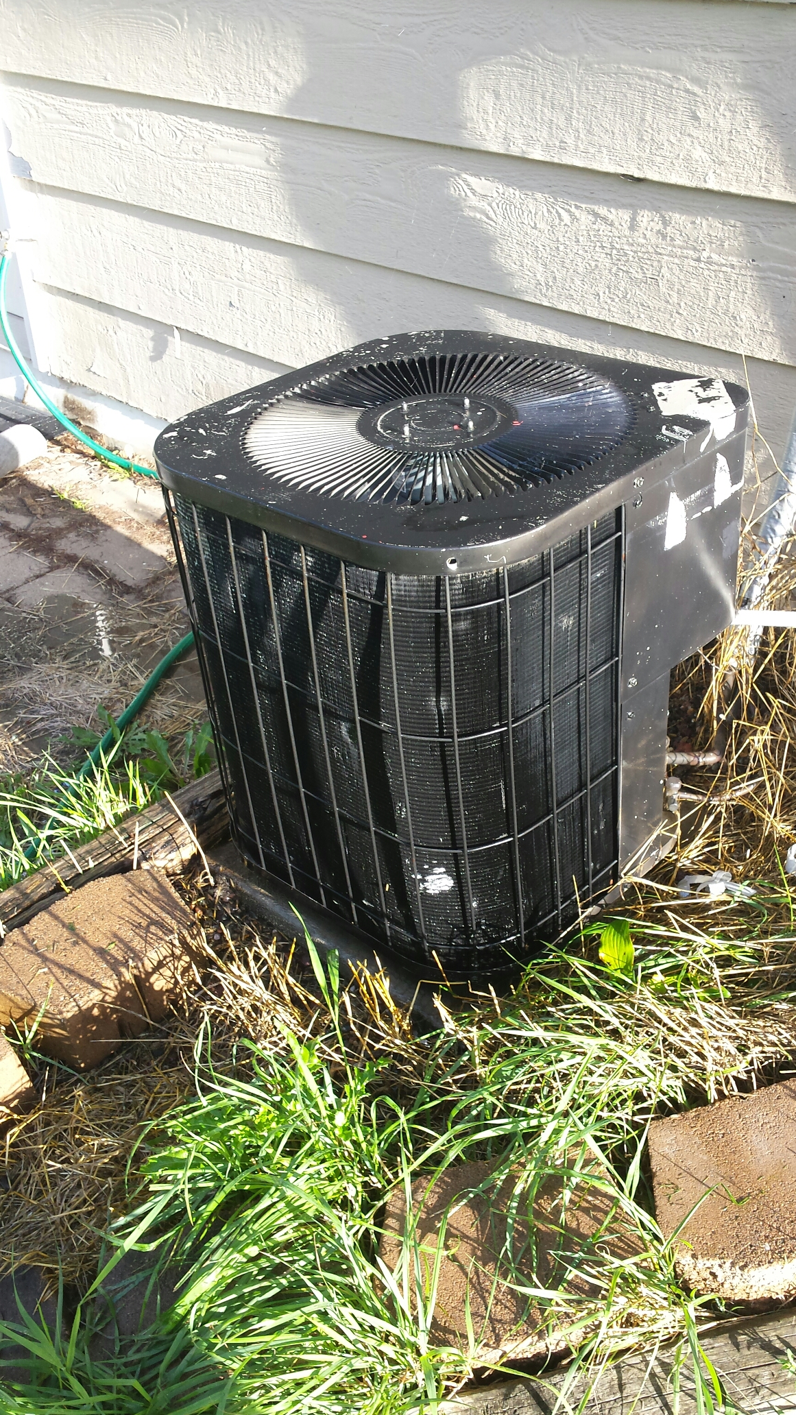 Montrose, MN - Air conditioning maintenance tune up and cleaning on a Goodman air conditioner