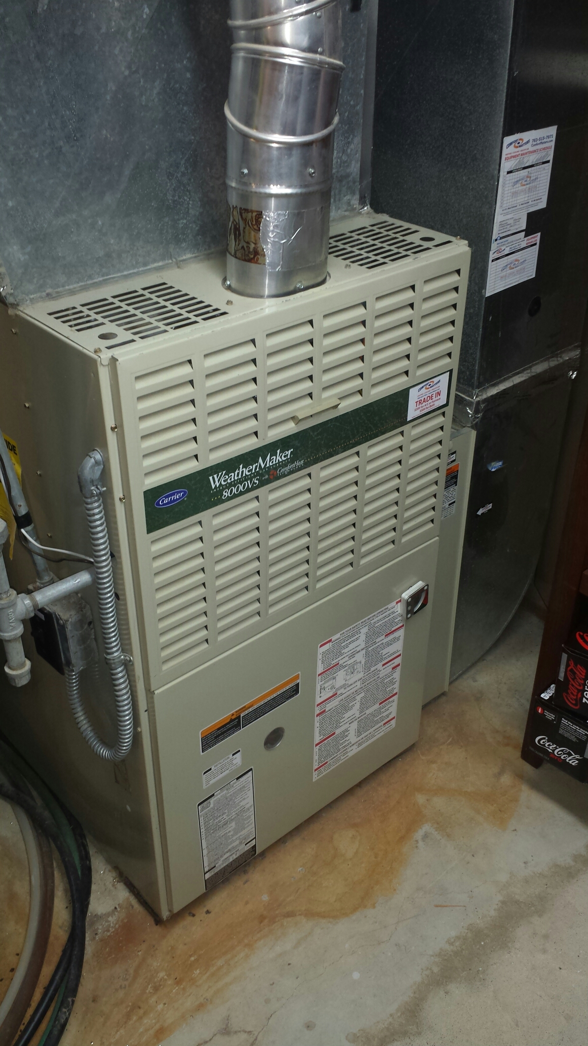 Edina, MN - Heating maintenance. Performed a cleaning and tune up on a Carrier furnace, Honeywell humidifier, and Venmar HEPA air exchanger.