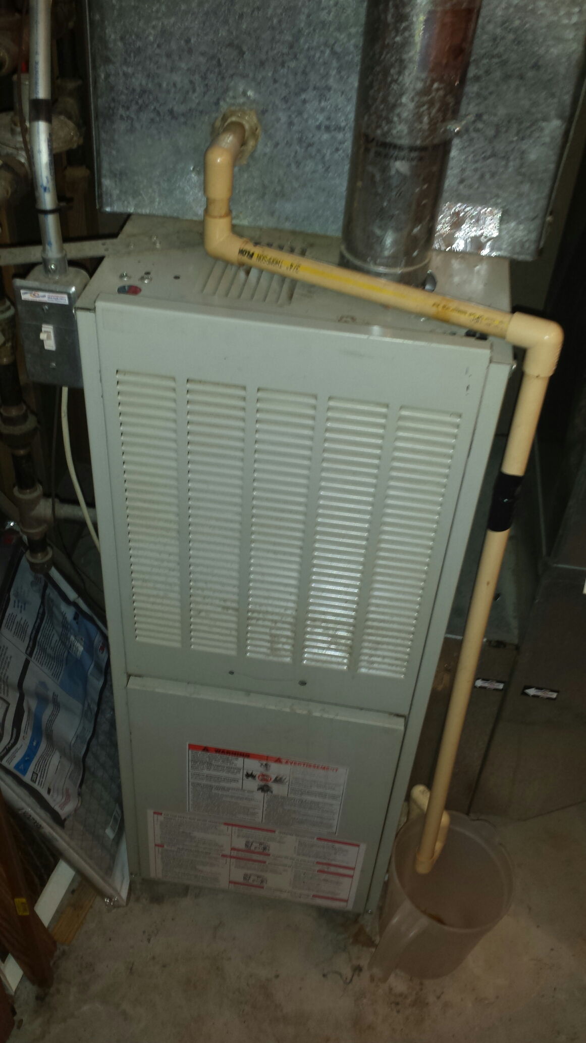 Monticello, MN - Heating maintenance. Diagnosed a cracked heat exchanger on an ICP furnace.