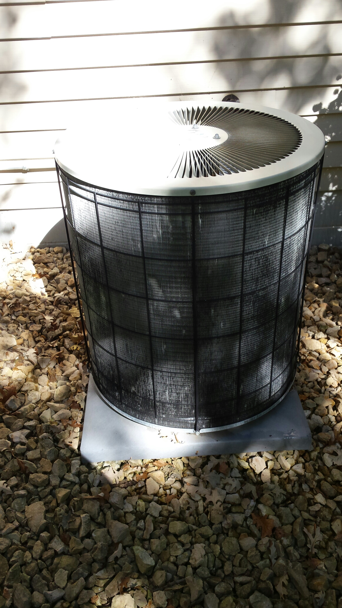 Andover, MN - Air conditioning maintenance tune up and cleaning on a Heil air conditioner