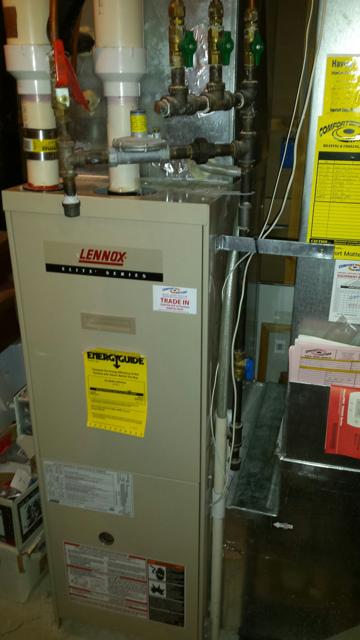 Monticello, MN - Furnace maintenance tune up and cleaning on a Lennox furnace