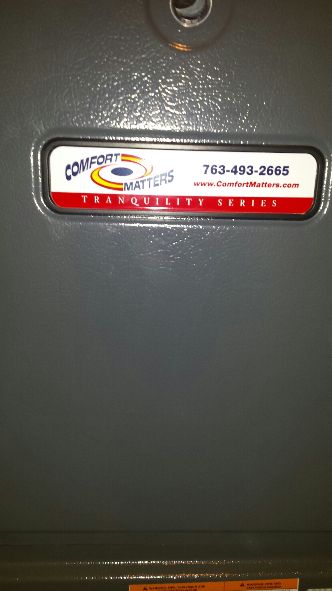 Watertown, MN - Furnace maintenance tune up and cleaning on a Comfort Matters furnace and humidifier