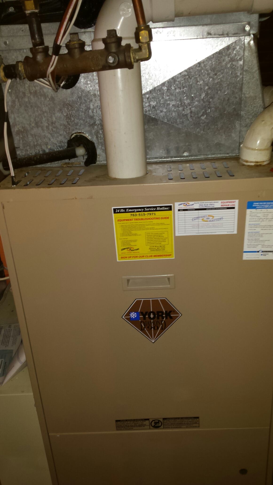 Maple Plain, MN - Furnace maintenance tune up and cleaning on a York furnace