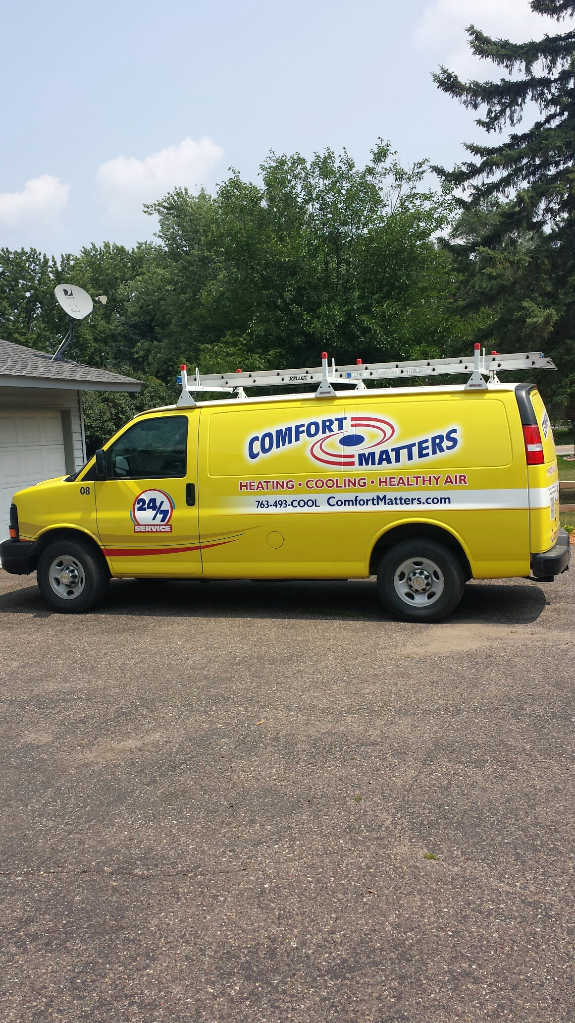 Maple Lake, MN - Heating service. Replaced a relay and a gas valve on a Reznor unit heater.