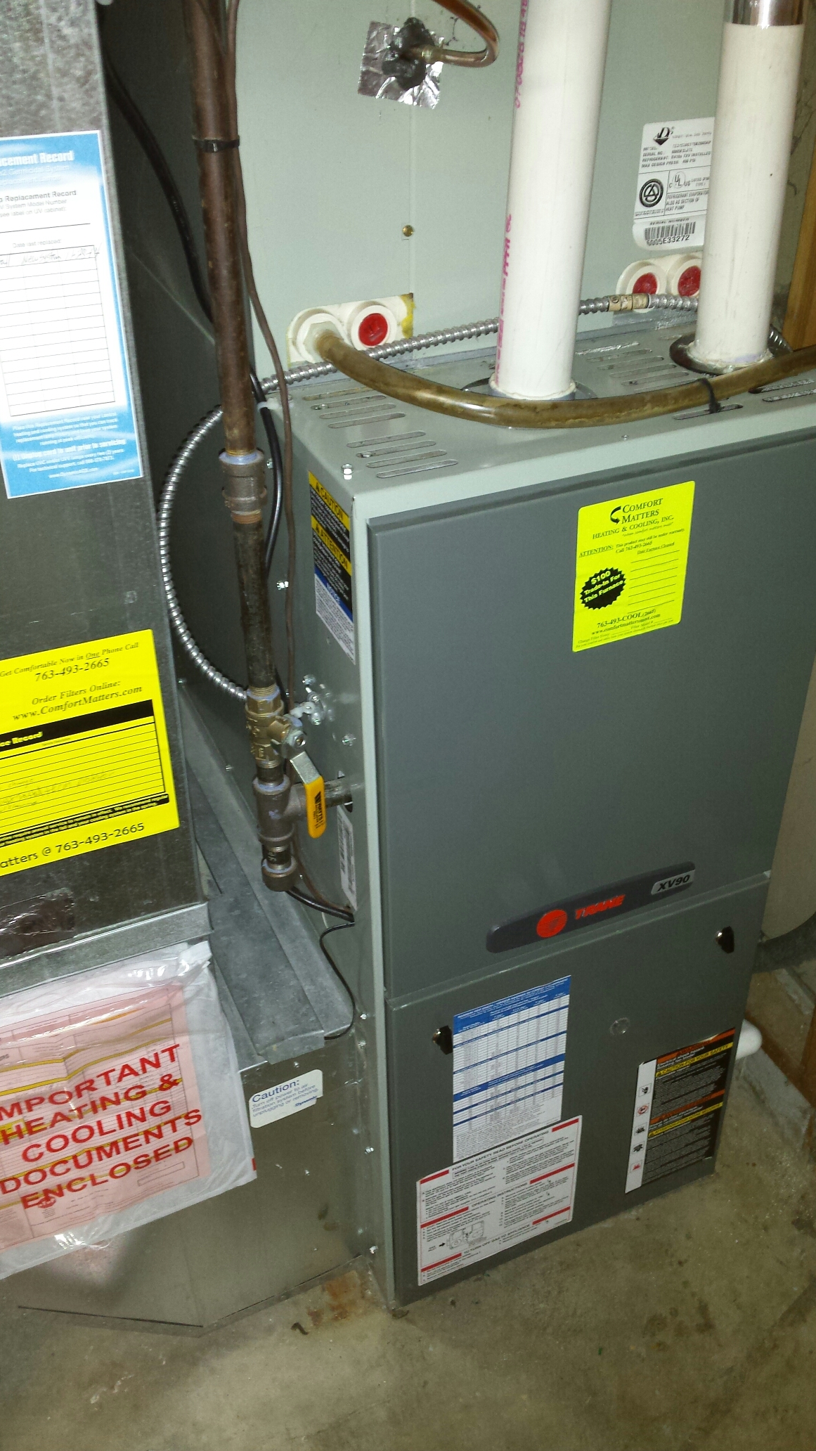 Princeton, MN - Furnace service no heat replaced ignition device on a Trane furnace
