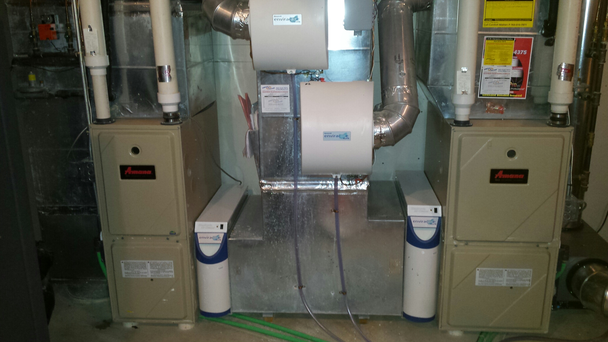 Orono, MN - Furnace repair on an Amana furnace
