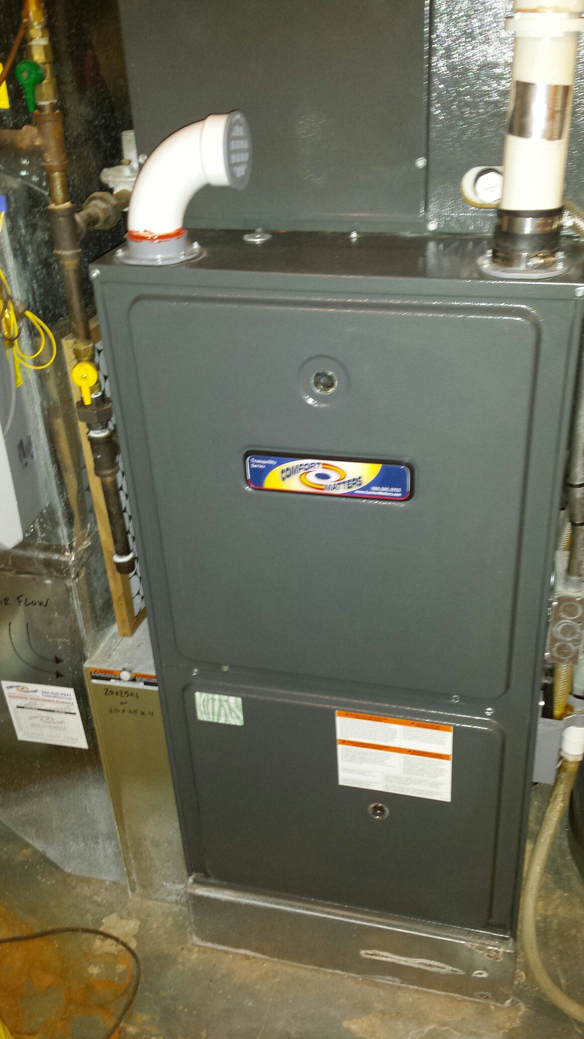 Robbinsdale, MN - Furnace maintenance tune up and cleaning on a Comfort Matters furnace