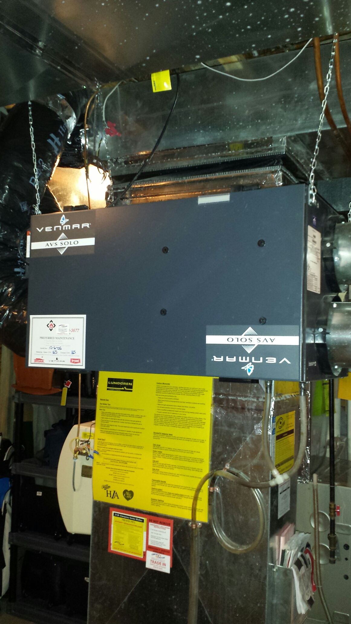 how to clean a venmar air exchanger
