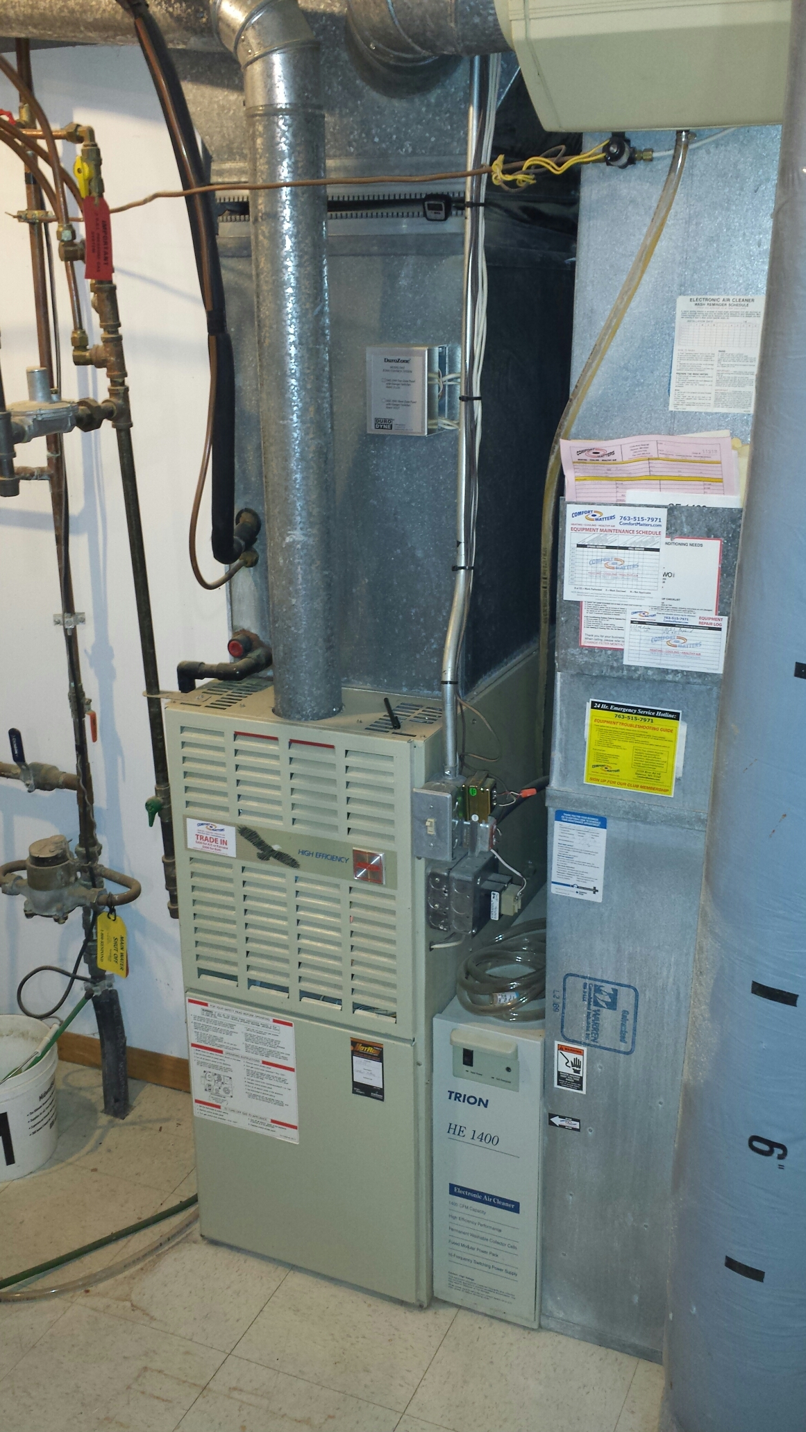 Maple Plain, MN - Heating service. Replaced a flame sensor and igniter on a Bryant furnace.
