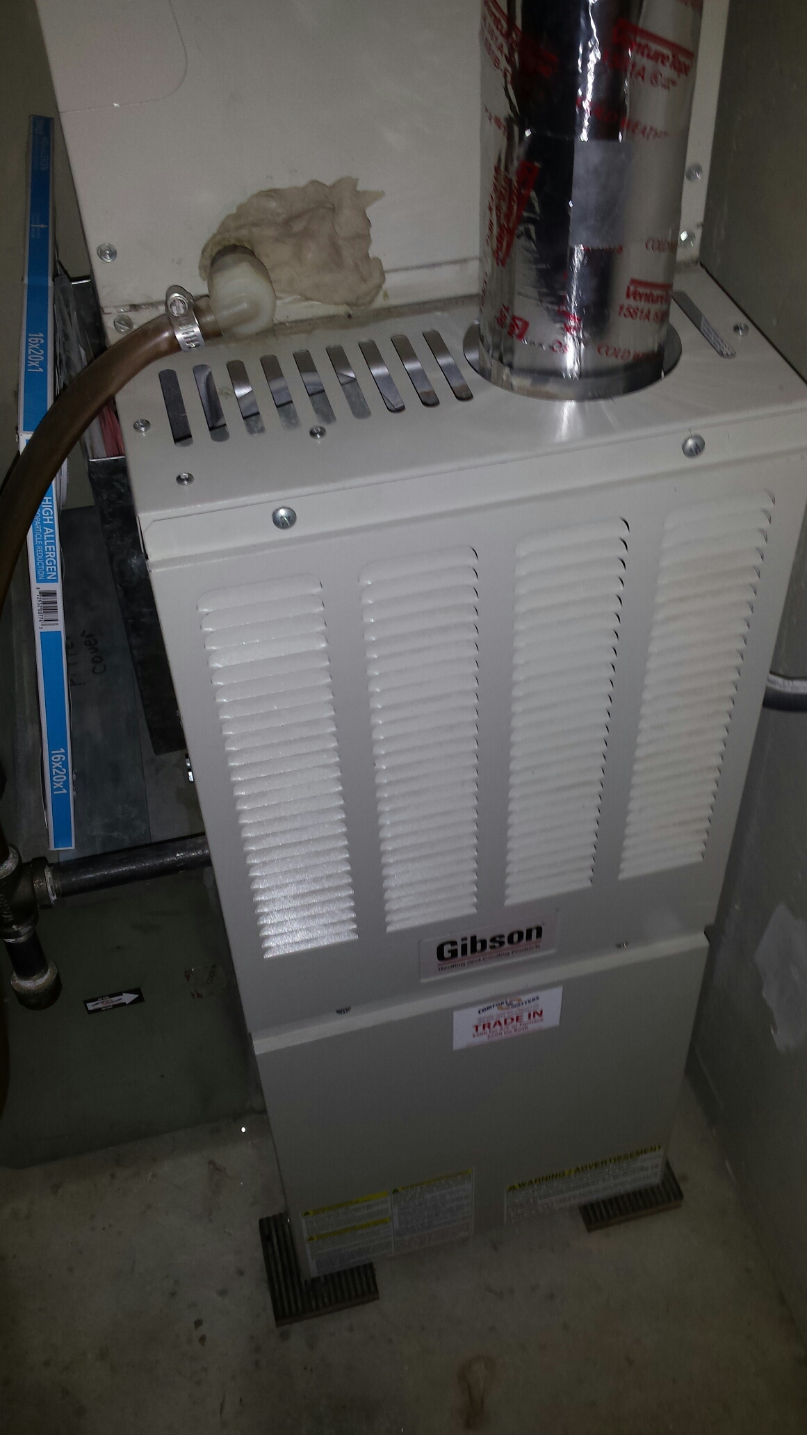 Zimmerman, MN - Furnace maintenance tune up and cleaning on a Gibson furnace