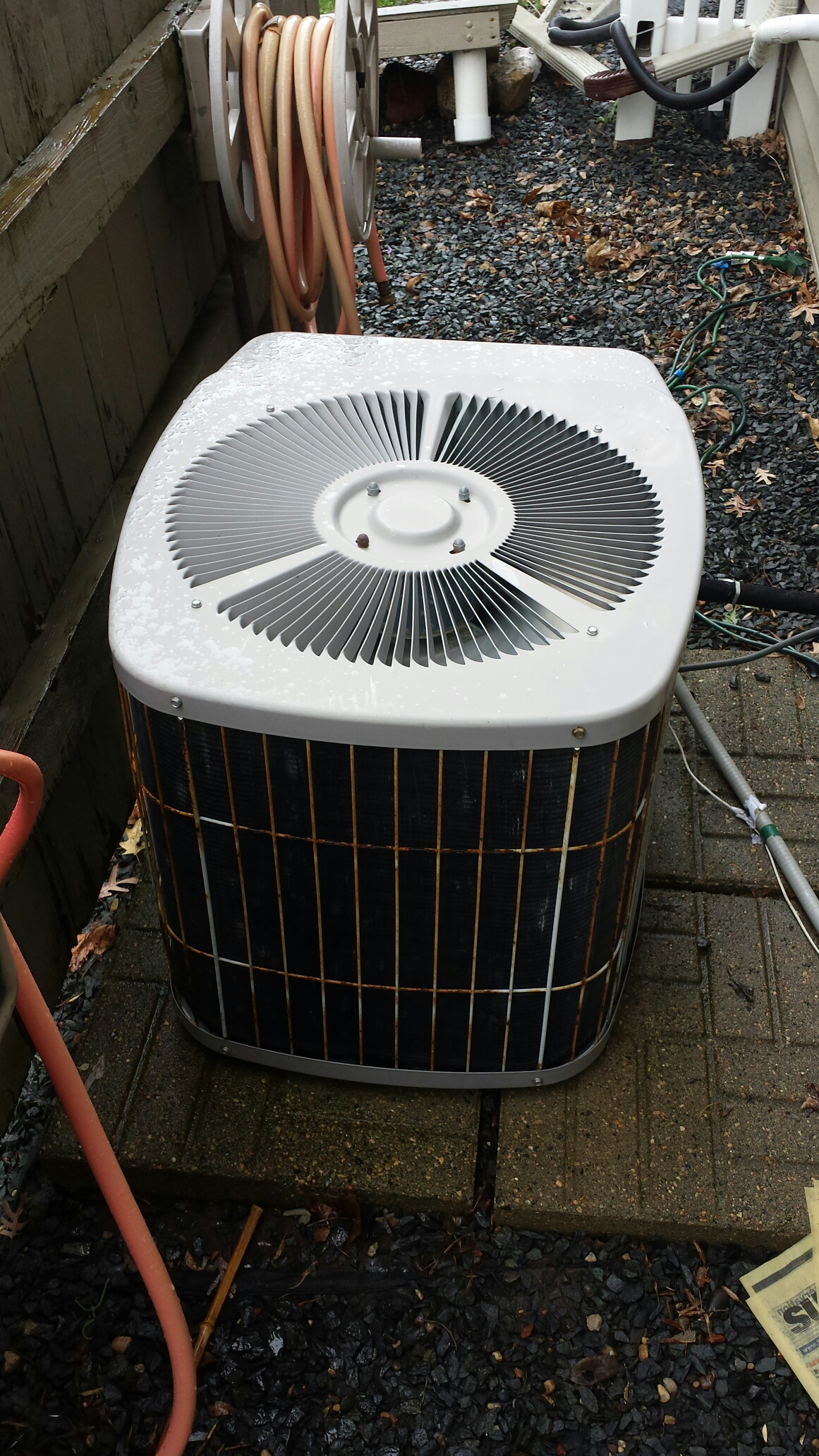 Eagan, MN - Ac service. Performed a cleaning and tune up on a Carrier air conditioner. Also added R-22 refrigerant.