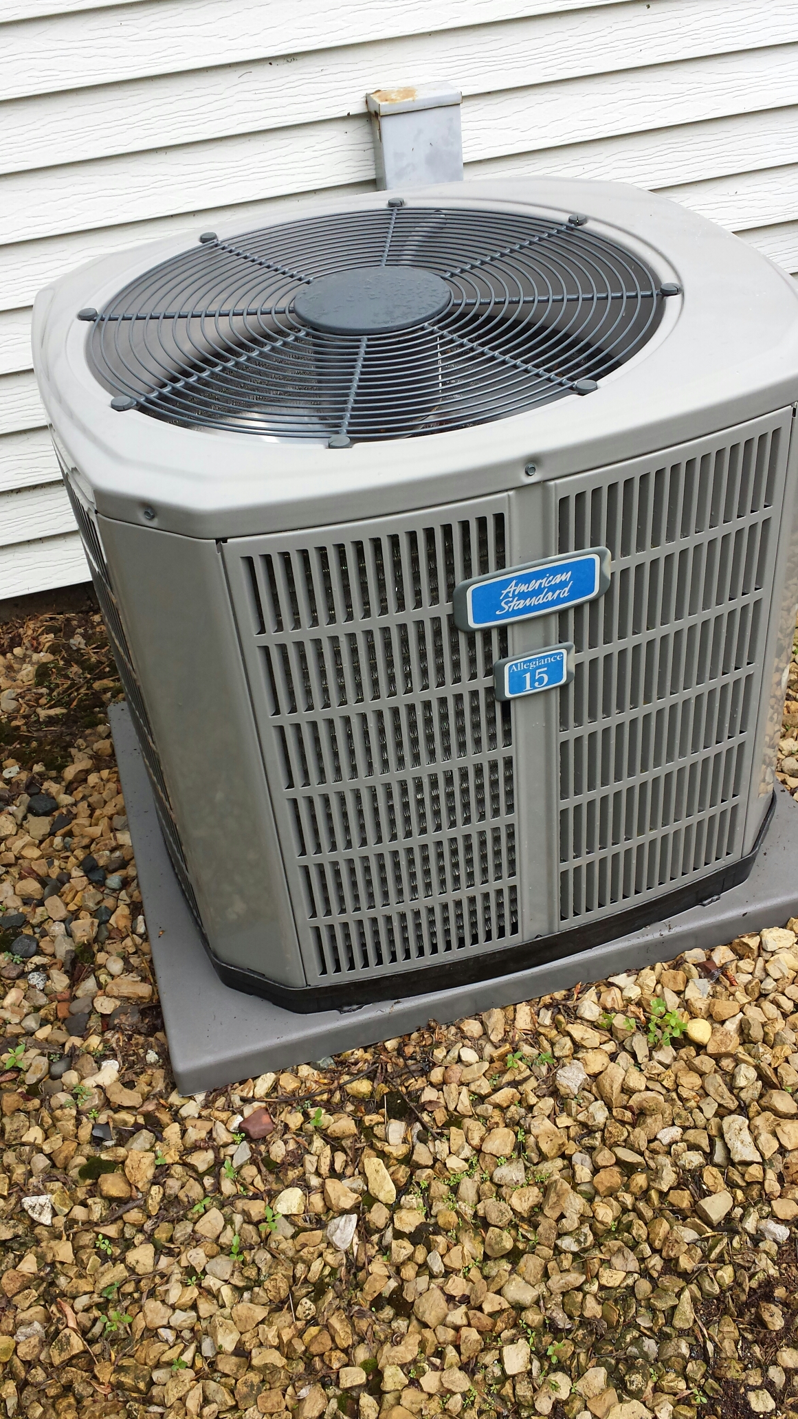 Andover, MN - Air conditioning maintenance tune up and cleaning on an American Standard  Air conditioner