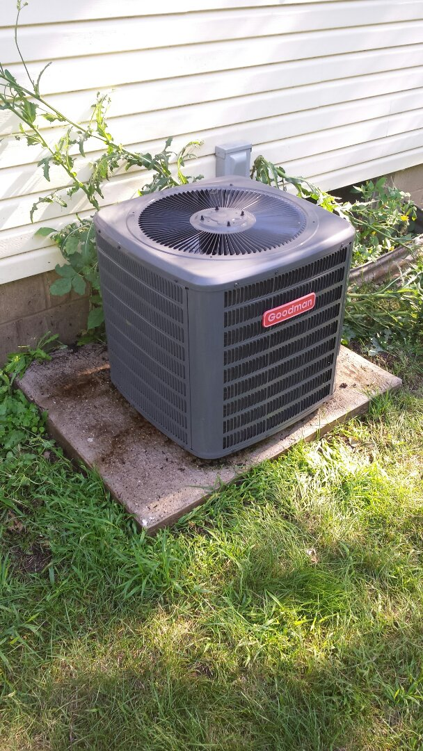 Delano, MN - Air conditioner cleaning and tune up on a Goodman