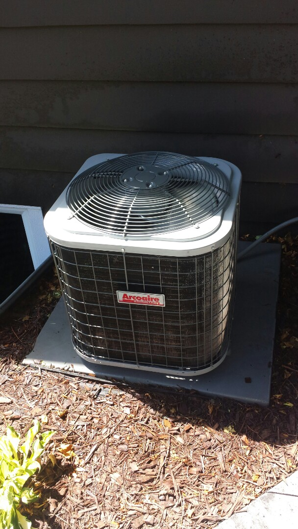 Golden Valley, MN - Air conditioning maintenance tune up and cleaning on an Arcoaire air conditioner