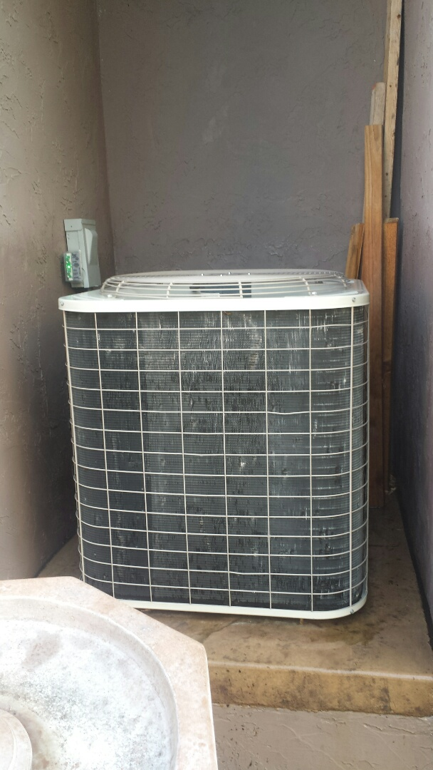 Excelsior, MN - Air conditioning maintenance tune up and cleaning on a Bryant air conditioner