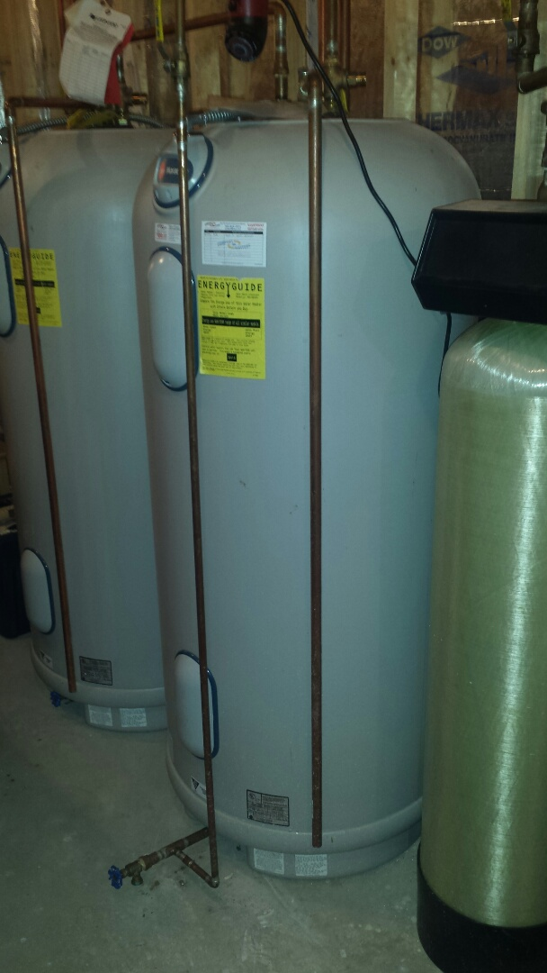 Medina, MN - Water heater service. Replaced an upper and lower thermostat on a Rheem Marathon water heater.