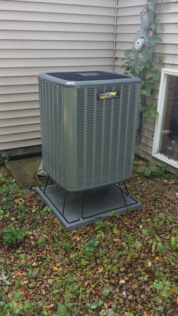 Big Lake, MN - Air conditioner maintenance. Performed a cleaning and tune up on a Comfort Matters heat pump.