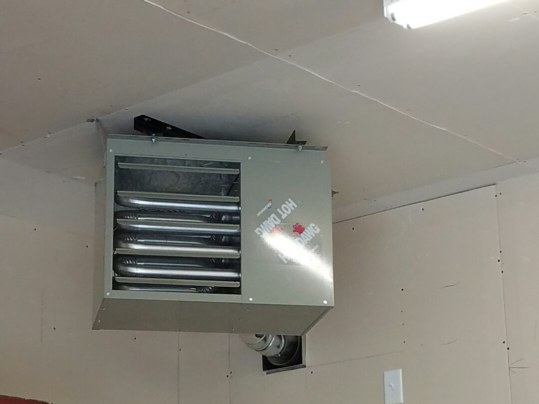 Blaine, MN - New hotdawg garage heater instalation