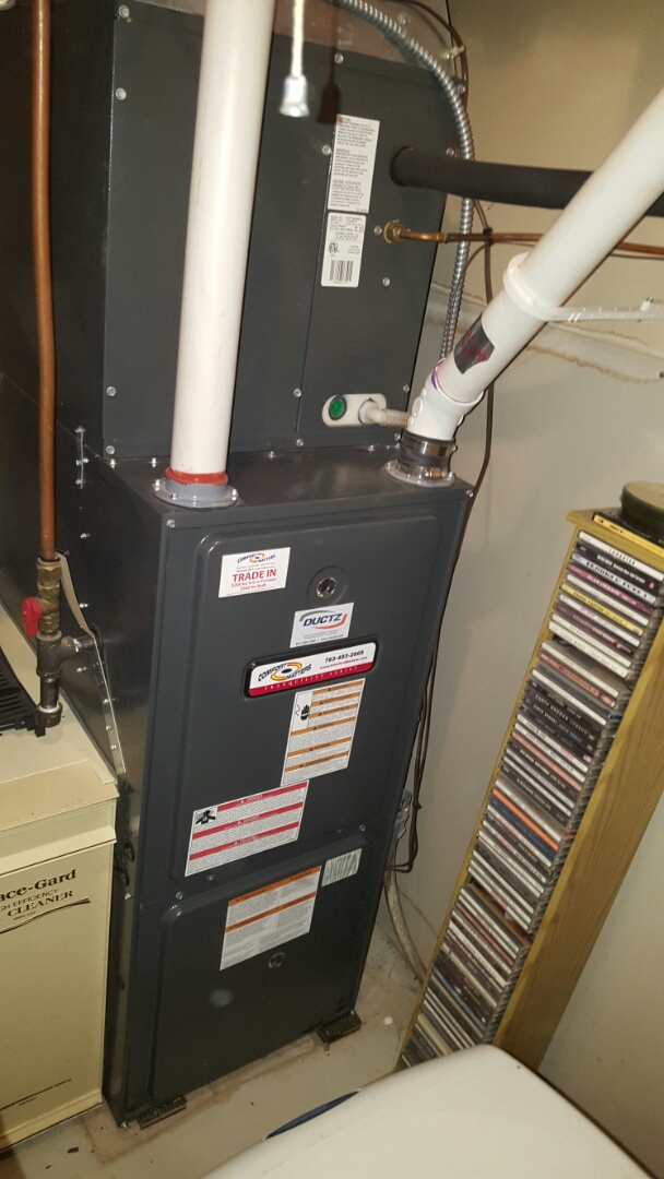 Becker, MN - Heating service. Diagnosed a bad Duran Dura-Zone zone damper. Also performed a cleaning and tune up on a Comfort Matters furnace and replaced a flame sensor.