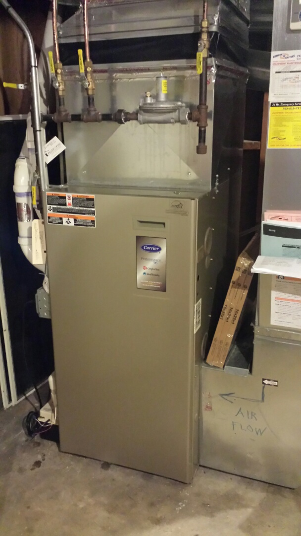 Minnetonka, MN - Carrier furnace tune up and cleaning