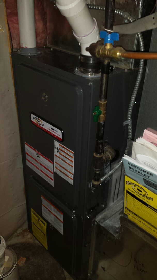 Andover, MN - Goodman furnace tune up and cleaning