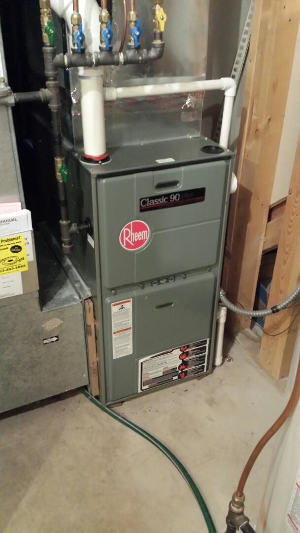 Andover, MN - Rheem furnace tune up and cleaning