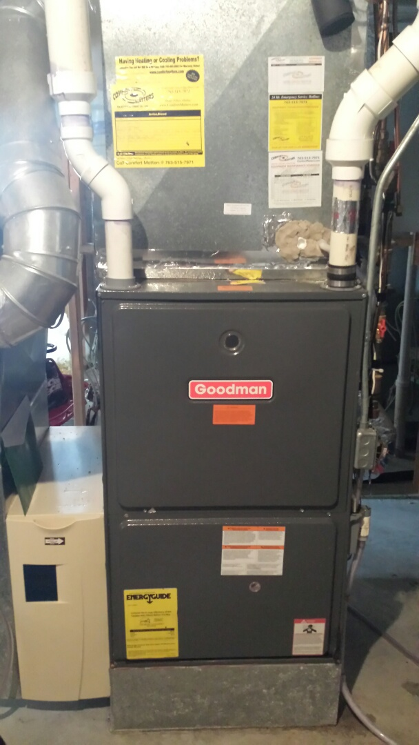 Rockford, MN - Goodman furnace tune up and cleaning