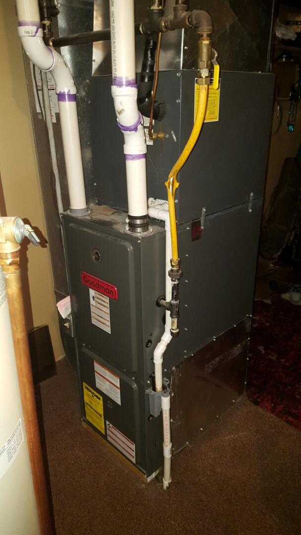 Champlin, MN - Heating service. Replaced a pressure safety switch on a Goodman furnace.