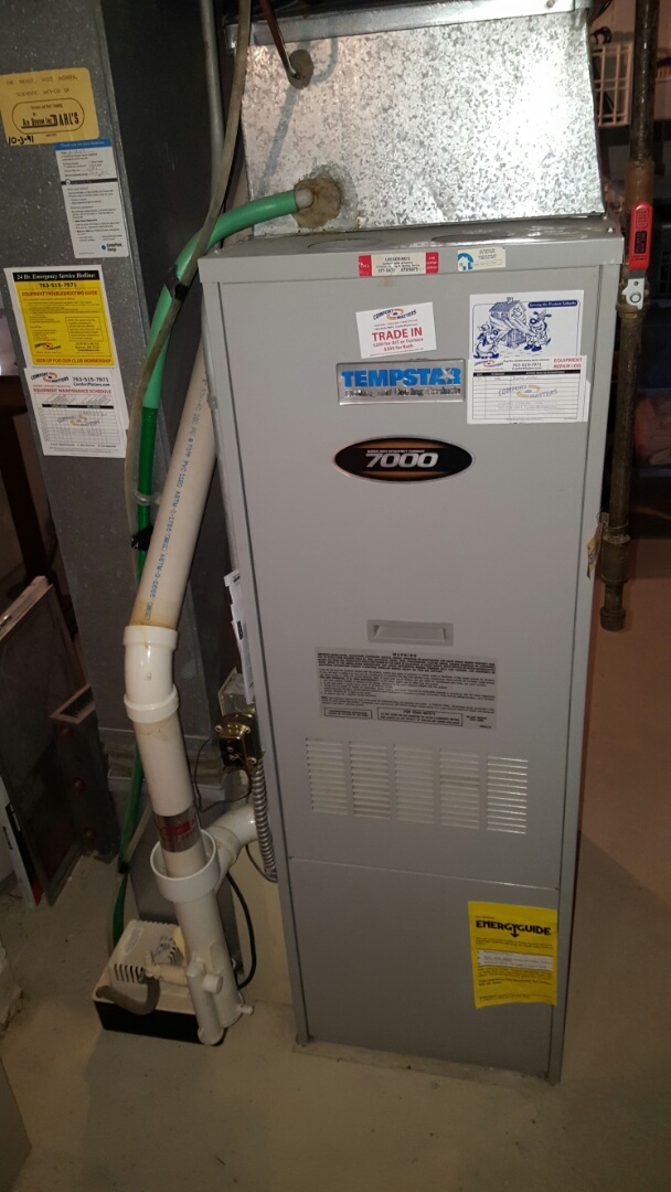 Minnetrista, MN - Furnace service. Replaced a blower motor on a Tempstar furnace.