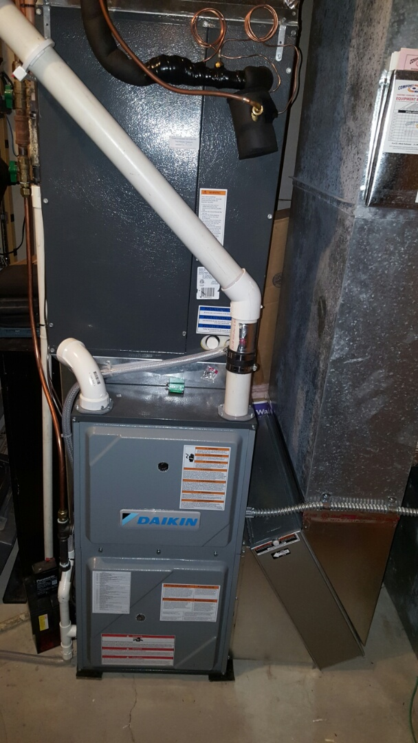 Independence, MN - Heating service. Diagnosed an air flow issue on a Daikin heat pump.