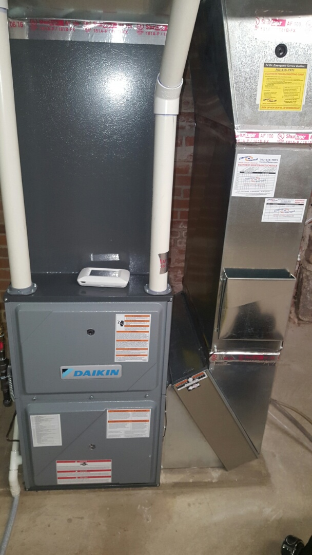 Rockford, MN - Heating service. Diagnosed a communication issue with a ComfortNet thermostat.
