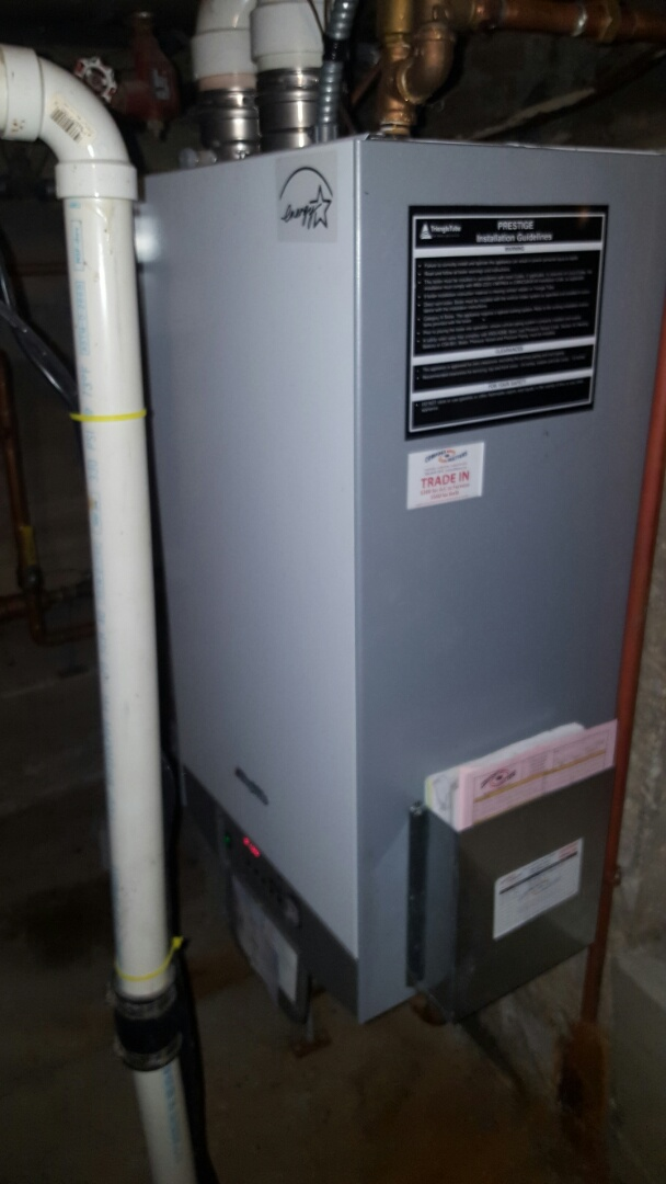 Wayzata, MN - Boiler service. Replaced the ignition assembly on a Triangle Tube Prestige Solo 110 boiler.