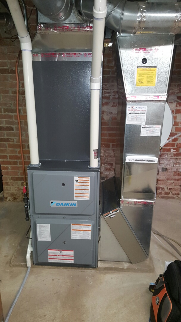 Rockford, MN - Warranty service. Repaired a low voltage communication issue on a Daikin communicating furnace.