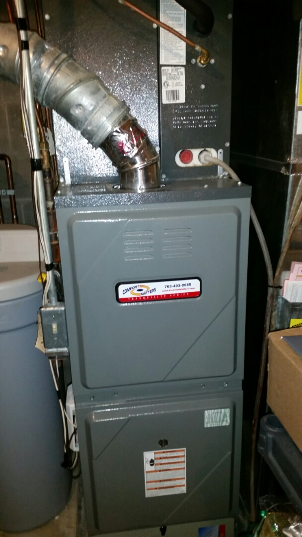 Fridley, MN - Tune up on 80 % Amana furnace in Fridley