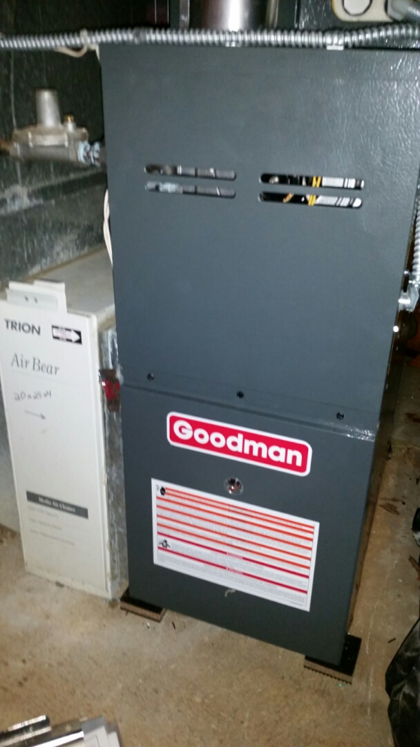 Bloomington, MN - Tune up on 80 % Goodman furnace in Bloomington