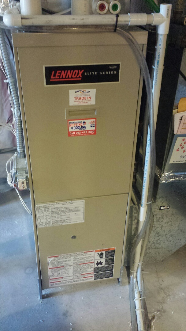 Rockford, MN - Lennox furnace tune up and cleaning