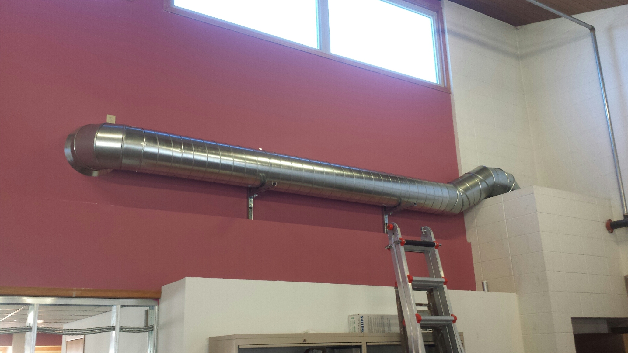 "Ramsey, MN - Install 14"" spiral duct return air"