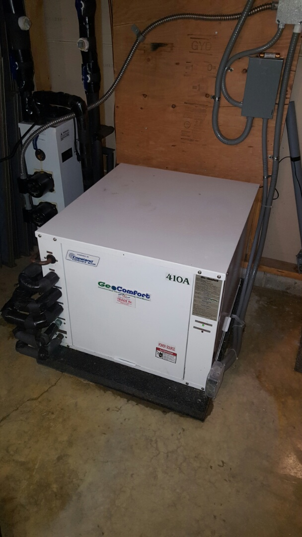 Loretto, MN - Heating service. Replaced a 45 amp fuse on a Geo Comfort ground source geothermal heat pump.