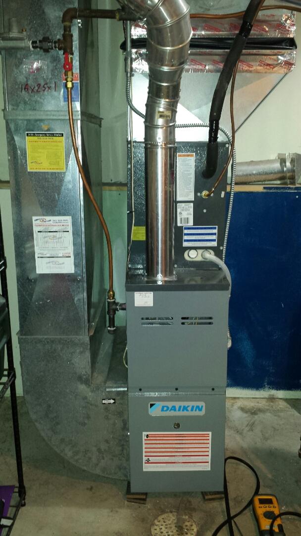 Champlin, MN - Daikin furnace tune up and maintenance