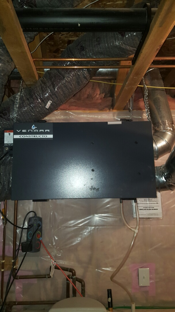 Montrose, MN - Air exchanger service. Diagnosed a bad blower assembly on a Venmar HRV air exchanger.