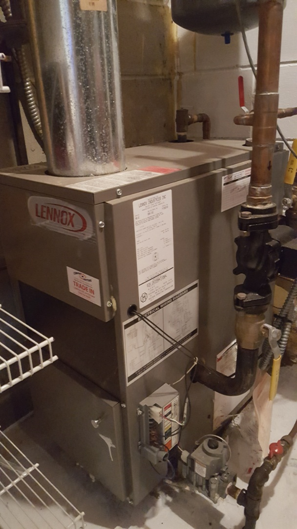 Osseo, MN - Heating service. Diagnosed and batteries in a 3M Filtrete thermostat on a Lennox boiler.
