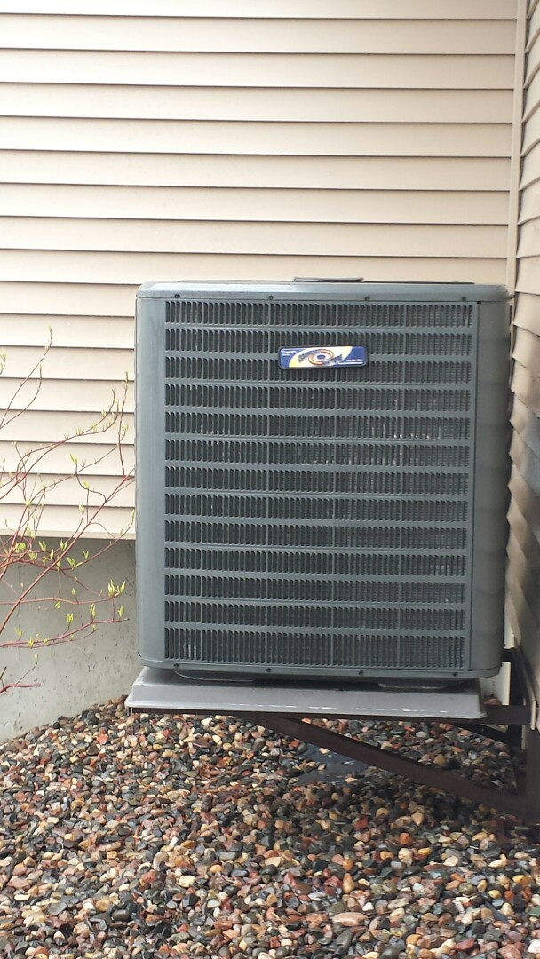 Plymouth, MN - Spring maintenance call. Performed tune up and cleaning on Comfort Matters air conditioner