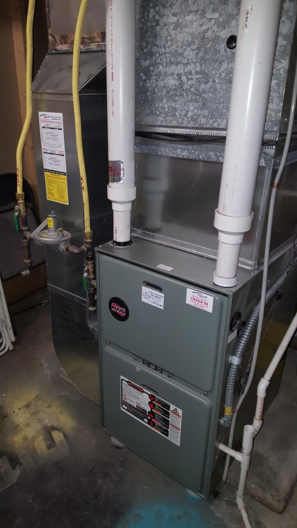 Monticello, MN - Heating service. Installed a pressure switch on a Ruud furnace.