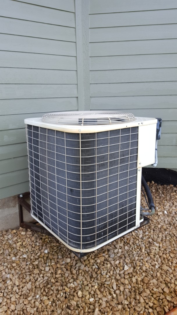 Rockford, MN - A.C. maintenance. Performed a cleaning and tune up on a Bryant air conditioner and a Venmar HRV air exchanger. Also replaced a Honeywell media filter.