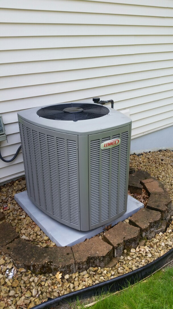 Osseo, MN - A/C clean and Tune up on Lennox unit in Maple Grove