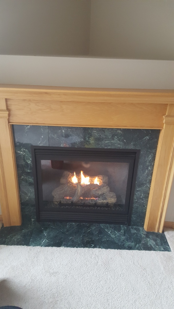 Rockford, MN - Fire place service. Performed a cleaning and tune up on an Empire fireplace.