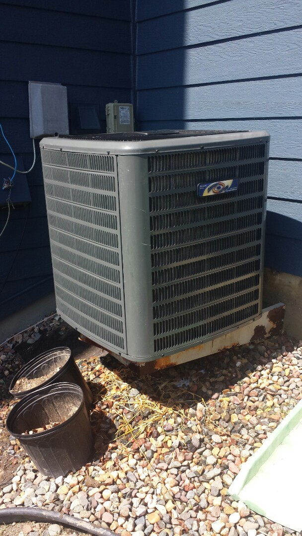 Hanover, MN - Spring maintenance call. Performed tune up and cleaning on Comfort Matters air conditioner